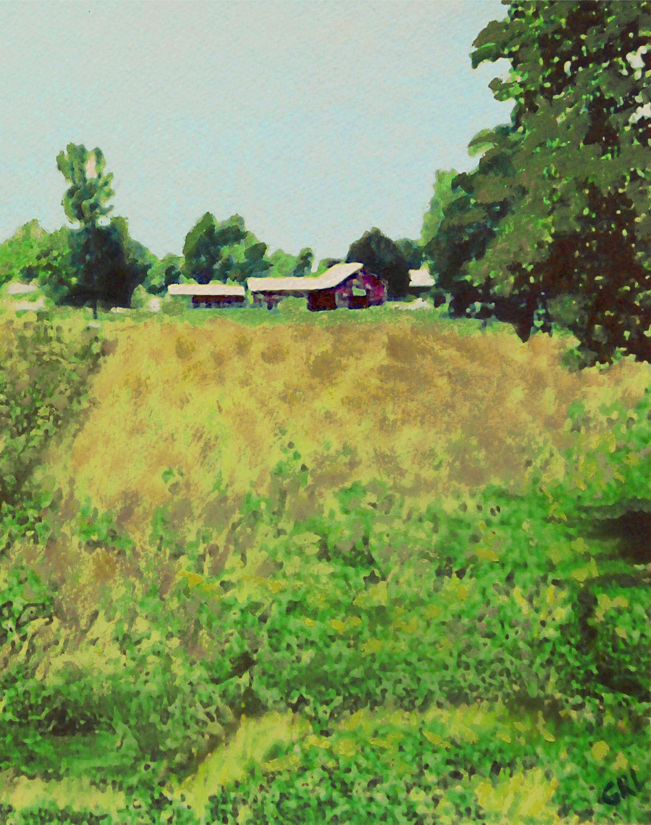Maryland Farm, Summer Landscapes... $18 to $24 medium-size prints. Free downloads. Original fine art painting,   Original fine art painting, Maryland Farm, Summer Landscapes, probably in the 1980s. GrlFineArt. Fine art work, fine art decor, fineart; landscapes, seascapes, boats, figures, nudes, figurative art, flowers, still life, digital abstracts. Multimedia classical traditional modern acrylic oil painting paintings prints.